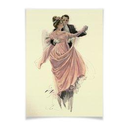 """Плакат A3(29.7x42) """"Вальс танец влюбленных"""" - арт, настроение, работа, картина, harrison fisher"""