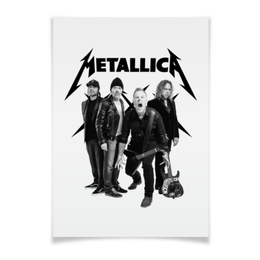 "Плакат A3(29.7x42) ""Metallica"" - рок, metallica, группы, метал, металлика"