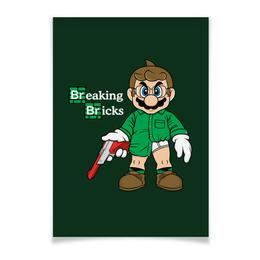 "Плакат 42x29.7(A3) ""Марио Хайзенберг"" - во все тяжкие, breaking bad, heisenberg, супер марио, super mario bros"