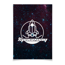 "Плакат A3(29.7x42) ""My Space"" - наука, космос, the spaceway, денис гесс, технологии"
