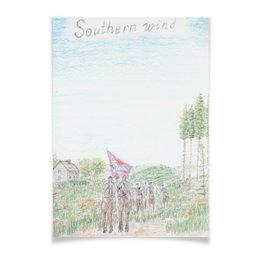 """Плакат A3(29.7x42) """"Кавалерия Конфедерации"""" - армия, война, сша, кавалерия, гражданская война сша"""