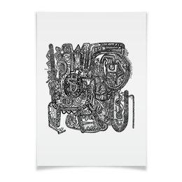 "Плакат A3(29.7x42) ""Петрушкин Лабиринт"" - арт, узор, абстракция, фигуры, текстура"