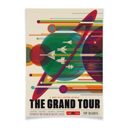 """Плакат A3(29.7x42) """"Космический туризм"""" - звезды, планета, космос, путешествие, туризм"""