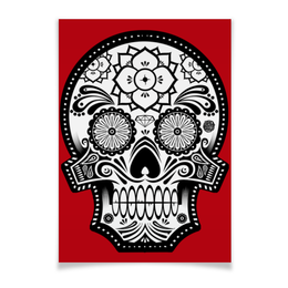 "Плакат A3(29.7x42) ""Santa Muerte skull"" - skull, череп, мексика, mexico, санта муерта"