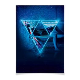 """Плакат A3(29.7x42) """"Неоновый демон"""" - девушка, мечта, модель, эль фаннинг, neon demon"""