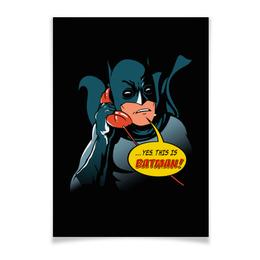 "Плакат A3(29.7x42) ""Бэтмен"" - комиксы, batman, супергерои, бэтмен, человек-летучая мышь"