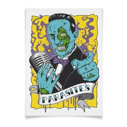 """Плакат A3(29.7x42) """"Zombie"""" - пинап, зомби, фэнтези, фантастика, комикс"""