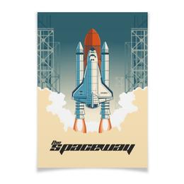 "Плакат A3(29.7x42) ""The Spaceway"" - звезды, космос, вселенная"