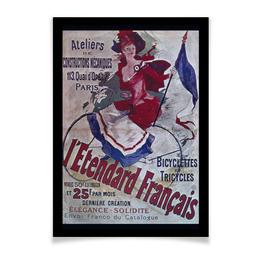 "Плакат A3(29.7x42) ""Велоспорт Ретро"" - ретро, рисунок, велосипед, велоспорт, старые плакаты"
