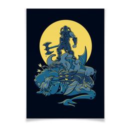 """Плакат A3(29.7x42) """"Скайрим. Довакин"""" - skyrim, скайрим, the elder scrolls, довакин, геймерские"""