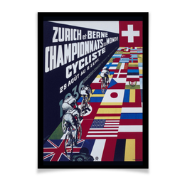 "Плакат A3(29.7x42) ""Велоспорт Ретро"" - ретро, велосипед, велоспорт, старые плакаты, рисунок"