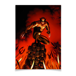 "Плакат A3(29.7x42) ""Росомаха"" - комиксы, люди икс, марвел, wolverine, логан"