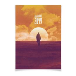 "Плакат A3(29.7x42) ""Бегущий по лезвию / Blade Runner 2049"" - солнце, облака, неон, бегущий по лезвию, blade runner"