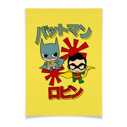 "Плакат A3(29.7x42) ""Бэтмен и Робин"" - комиксы, batman, супергерои, бэтмен, бэтмен и робин"