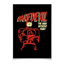 "Плакат A3(29.7x42) ""Сорвиголова"" - комиксы, супергерои, daredevil, сорвиголова"