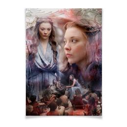 """Плакат A3(29.7x42) """"Mercy queen"""" - игра престолов, маргеритирелл, марджеритирелл"""