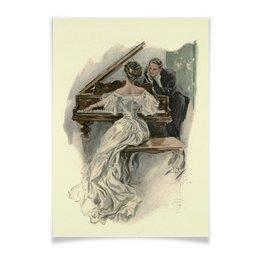 """Плакат A3(29.7x42) """"Музыкальный момент"""" - арт, настроение, работа, подарок, harrison fisher"""