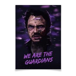 """Плакат A3(29.7x42) """"Star lord"""" - марвел, комиксы, стражи галактики, guardians of the galaxy, звездный лорд"""