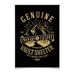 """Плакат A3(29.7x42) """"Fallout. Vault Shelter"""" - fallout, геймерские, игры, vault, shelter"""