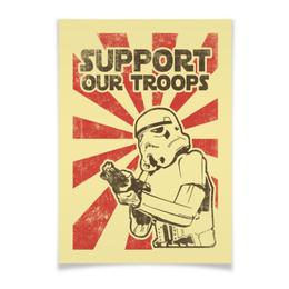 "Плакат A3(29.7x42) ""Звёздные войны"" - star wars, звездные войны, stormtrooper, штурмовик, арт"