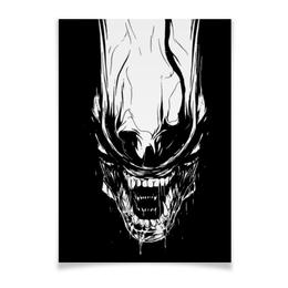 """Плакат A3(29.7x42) """"Xenoblack"""" - стиль, alien, movie, alienmovie, ellenripley"""