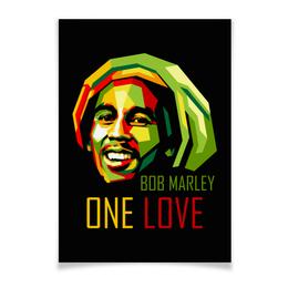 "Плакат A3(29.7x42) ""Боб Марли"" - регги, боб марли, bob marley, reggae, rastafari"