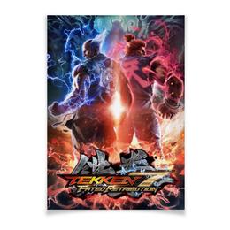 "Плакат A3(29.7x42) ""Tekken 7"" - tekken, tekken 7, акума, хейхачи"