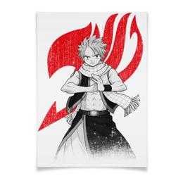 "Плакат A3(29.7x42) ""Нацу. Fairy Tail"" - аниме, манга, fairy tail, хвост феи, нацу"