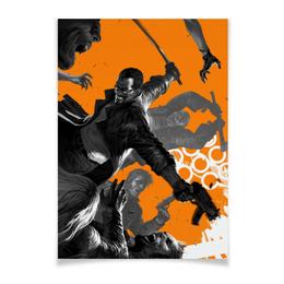 """Плакат A3(29.7x42) """"Блэйд"""" - комиксы, марвел, blade, блэйд"""