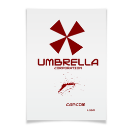 "Плакат A3(29.7x42) ""Umbrella Corporation"" - игра, геймер, resident evil, umbrella, re"