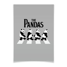 """Плакат A3(29.7x42) """"The Pandas. Панды"""" - beatles, панда, the beatles, панды, abbey road"""