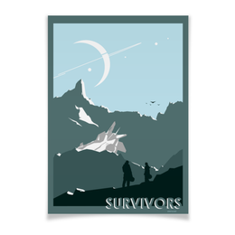 "Плакат A3(29.7x42) ""Survivors/Выжившие"" - космос, планета, фантастика, sci-fi"