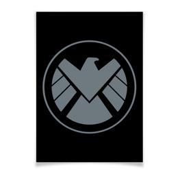"""Плакат A3(29.7x42) """"Avengers Shield / Мстители Щит"""" - арт, мстители, avengers, щит, shield"""