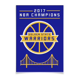 "Плакат A3(29.7x42) ""Golden State Champions"" - баскетбол, nba, нба, golden state warriors, кевин дюрант"