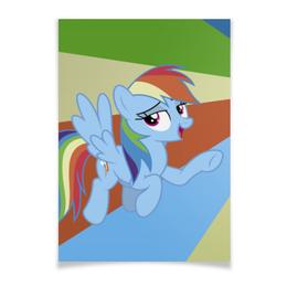 "Плакат A3(29.7x42) ""Rainbow Dash Color Line"" - rainbow dash, magic, fim, cutiemark, friendship"