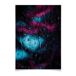 """Плакат A3(29.7x42) """"Дождь"""" - лето, summer, дождь, природа, memory"""