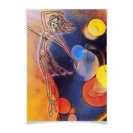 "Плакат A3(29.7x42) ""Танец"" - девушка, танец, женщина, балет, легкость"