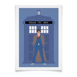 "Плакат A3(29.7x42) ""Доктор Кто / Doctor Who"" - доктор кто, тардис, дэвид теннант"