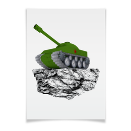 """Плакат A3(29.7x42) """"С 23 февраля!"""" - 23 февраля, день защитника отечества, танк, февраль, прадник"""