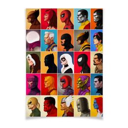 """Плакат A3(29.7x42) """"Marvel Heroes vol.3"""" - комиксы, росомаха, тор, человек-паук, магнето"""