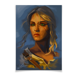"""Плакат A3(29.7x42) """"Цирилла"""" - арт, игры, рисунок, ведьмак, цири"""