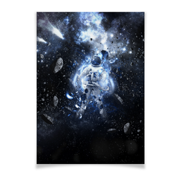 "Плакат A3(29.7x42) ""Астронавт "" - арт, космос, астронавт"