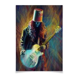"""Плакат A3(29.7x42) """"Buckethead - Бакетхед """" - гитара, музыкант, гитарист, бакетхед, buckethead"""