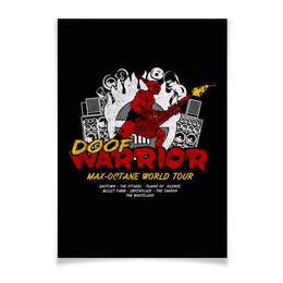 "Плакат A3(29.7x42) ""Doof Warrior. Mad Max"" - гитарист, mad max, безумный макс, fury road, doof warrior"
