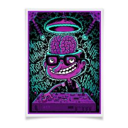 """Плакат A3(29.7x42) """"Crazy DJ"""" - музыка, dj, music, арт дизайн, ди джей"""