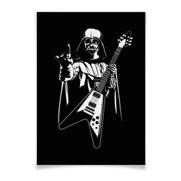 "Плакат A3(29.7x42) ""Darth Rock"" - heavy metal, star wars, darth vader, звездные войны, дарт вейдер"
