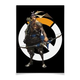 """Плакат A3(29.7x42) """"Overwatch Hanzo / Овервотч Хандзо"""" - видеоигры, overwatch, овервотч, hanzo, хандзо"""