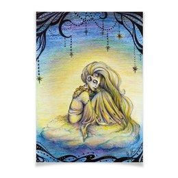 """Плакат A3(29.7x42) """"Сон Луна"""" - рисунок, сон, луна, иллюстрация"""