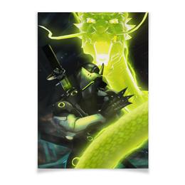 "Плакат A3(29.7x42) ""Гэндзи"" - blizzard, близзард, overwatch, овервотч, genji"
