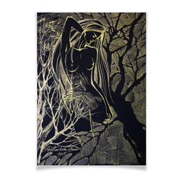 """Плакат A3(29.7x42) """"Лесная фея"""" - любовь, эльф, эротический, лесная фея, дриада"""